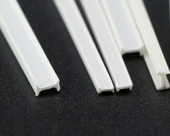 ABS Plastic Bar | H-beam | 1.5x2.5x250mm | Sold by Pc | AM0074