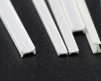 ABS Plastic Bar | H-beam | 3x2x250mm | Sold by Pc | AM0075