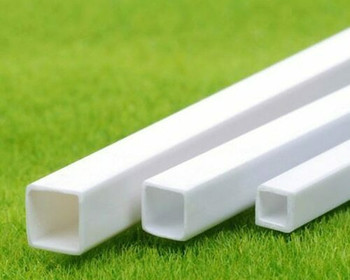 ABS Plastic Tubing | Square | 6x6x250mm | Sold by Pc | AM0082