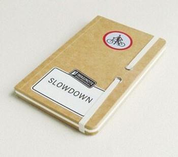 "Road Signs ""Slowdown"" Sketchbook | 18.5x12cm | 256 Brown & White Pages | JI0004B"