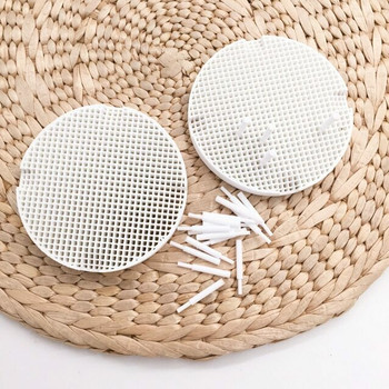 Mini Honeycomb Soldering Block | Ceramic Pins, Large Holes | 8cm dia. | SOL-444.00