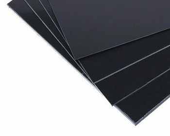 ABS Plastic Sheet | Black | 200x250x1mm | Sold by 1Pc | AM0097