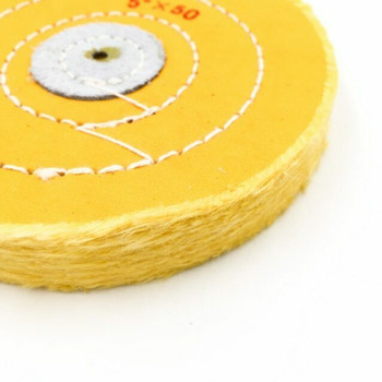 """Yellow-Treated Cloth Buffing Wheel 