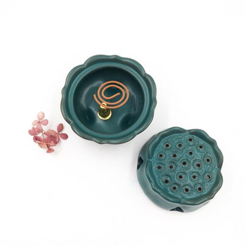 Green Ceramic Incense Burner | H205404