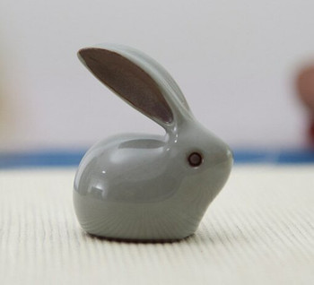 Porcelain Tea Pet | Green Rabbit | H204302
