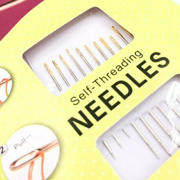 Self-Threading Sewing Needles | Set of 12 | H197618