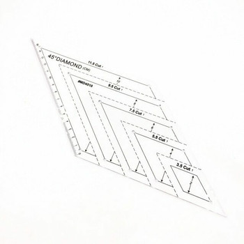 Diamond Quilting Template | with 45 Degree Angle | H197635