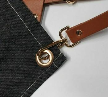 Artist's Multitask Grey Jean Apron | Simple Pockets | H192405