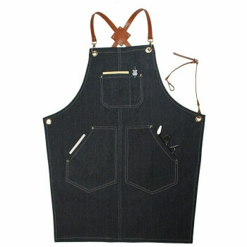 Artist's Multitask Grey Jean Apron | Simple Pockets | H192405