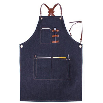 Artist's Multitask Blue Jean Apron | Leather Straps| H192406
