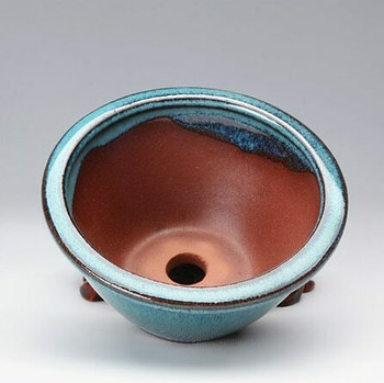Blue Circle Plant Pot | 10 x 10 x 5.5 cm | H198102