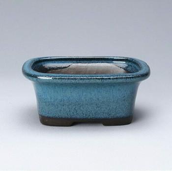 Blue Rectangle Plant Pot | 11 x 8 x 4.5 cm | H198103
