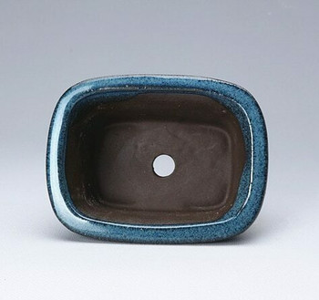 Blue Rectangle Plant Pot | 11 x 8 x 4.5 cm | H198103