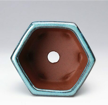 Blue Facet Plant Pot | 9 x 9 x 5.5 cm | H198104