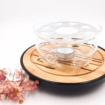 Glass Teapot Warmer | Metal Plate | H171205