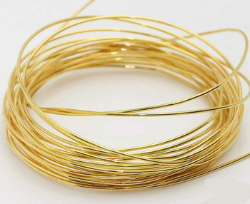 Gold Artistic Wire   Base Metal   0.2mm   Length:10m   SCW0101