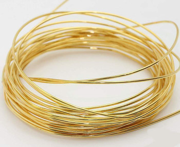 Gold Artistic Wire   Base Metal   0.5mm   Length:10m   SCW0106