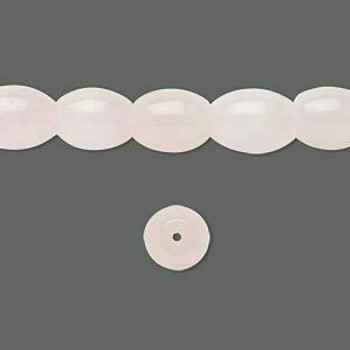 "Rose Quartz 10x8mm Oval Beads | Sold by 8"" Strand 