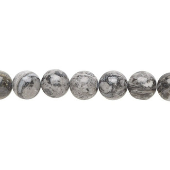"""Silver Crazy Lace Agate 10mm Round Beads 