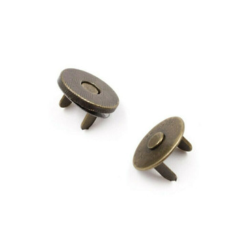 Magnetic Clasp for Bookbinding & Bag Making | 18mm | Bronze Finish | Sold by Pack of 10 | H160403