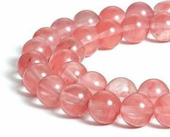 "Cherry Quartz 10mm Round Beads | Sold by 8"" Strand | BS0169"