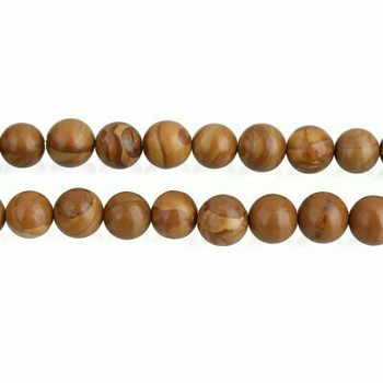 "Tigerskin ""Jasper"" 10mm Round Beads | Sold by 8"" Strand | BS0170"