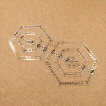 Acrylic Hexagon Design Template | H193709