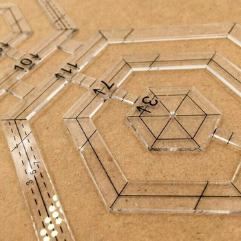 Acrylic Hexagon Design Template | H193709