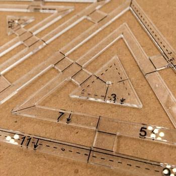 Acrylic Triangle Design Template | H193711