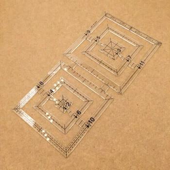 Acrylic Square Design Template | H193712