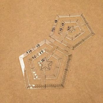 Acrylic Pentagon Design Template | H193713