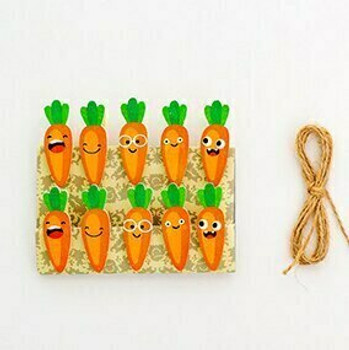 Carrot Clothespins   H203140