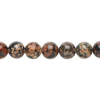 """Red snowflake jasper (natural) Beads 9mm 