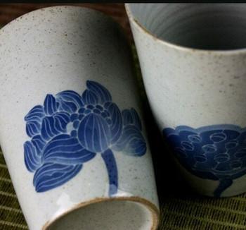 Handmade Blue Flower Cup   H196601