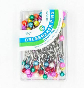 Dressmaker's Pins | Multicoloured | Pack of 100 | DMP100M