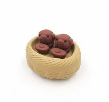 Yixing Tea Pet | Little Pig Friends | Ochre | H204401