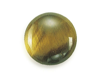 Round 12mm Tiger's Eye Cabochon Stone, Sold By Each | 87511