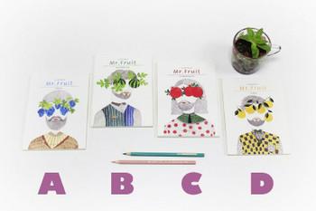 Joytop   A5 Sketchbook Blank Mr.Fruit 13x18cm 60 sheets   9401
