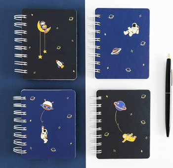 Joytop   Space   Mini Spiral Planner Notebook   C7 9x11.5cm 81sheets   9416
