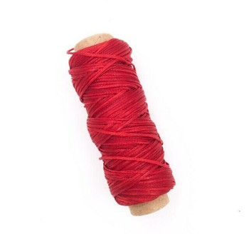2mm Waxed Nylon Cord   Classic Red   Sold By 50m Spool   NCCR20