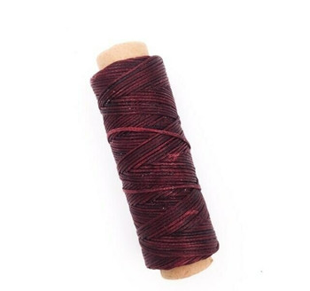 1.5mm Waxed Nylon Cord | Blood Red | Sold By 50m Spool | NCBR15