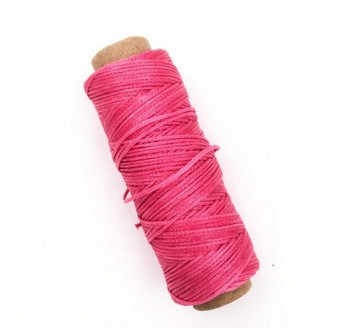 1.5mm Waxed Nylon Cord | Hot Pink | Sold By 50m Spool | NCHP15