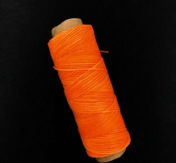 2mm Waxed Nylon Cord   Neon Orange   Sold By 50m Spool   NCNO20