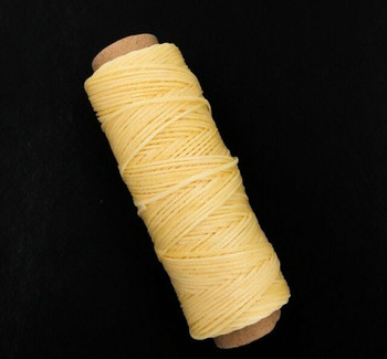 1.5mm Waxed Nylon Cord | Pineapple Yellow | Sold By 50m Spool | NCPY15