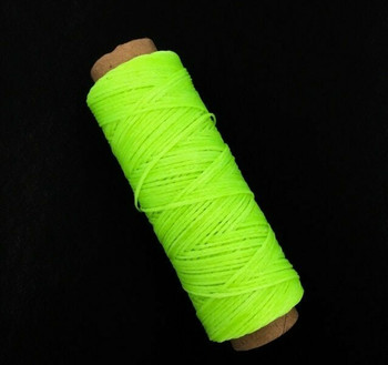 2mm Waxed Nylon Cord   Neon Green   Sold By 50m Spool   NCNG20