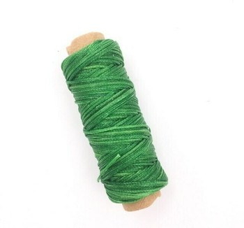 1.5mm Waxed Nylon Cord | Grass Green | Sold By 50m Spool | NCGG15