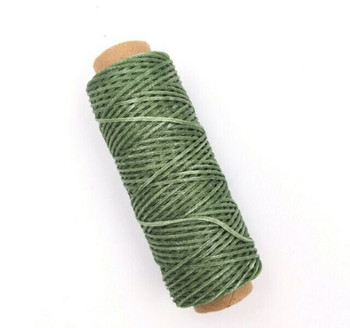 1.5mm Waxed Nylon Cord   Sage Green   Sold By 50m Spool   NCSG15