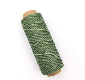 2mm Waxed Nylon Cord   Sage Green   Sold By 50m Spool   NCSG20