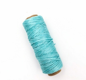 1.5mm Waxed Nylon Cord | Aqua Blue | Sold By 50m Spool | NCAB15