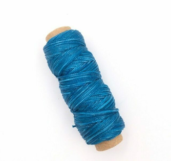 1.5mm Waxed Nylon Cord | Teal Blue | Sold By 50m Spool | NCTB15